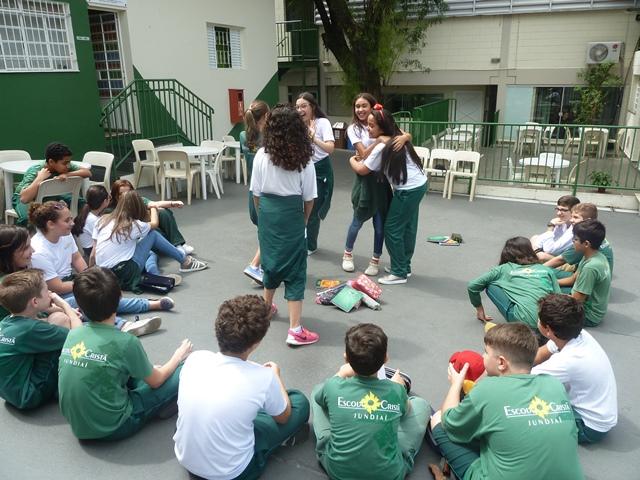 As atividades no acampamento imaginário de Espanhol – 7º ano A