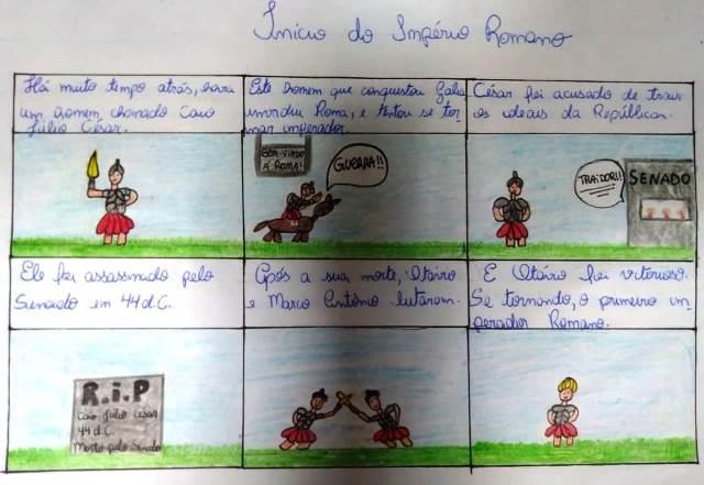 Aprendendo sobre Roma Antiga em quadrinhos – 6º ano