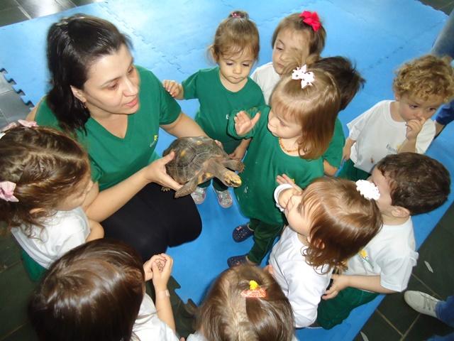 Conhecendo os animais com uma visita especial – Maternal 2