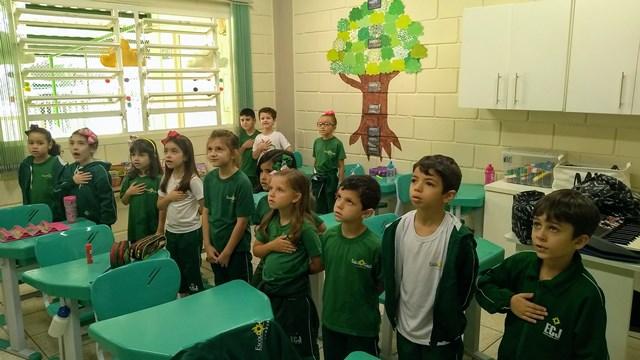 É prazeroso cantar o Hino Nacional Brasileiro