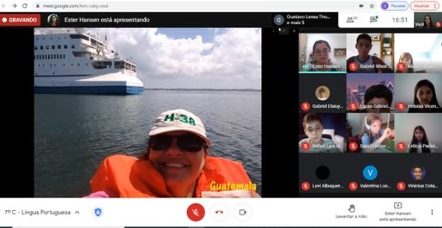 7º ano recebe visita virtual de Ester Hansen